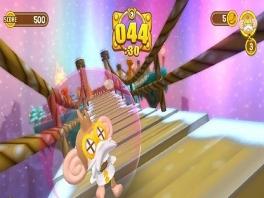 In dit spelletje moet je de aapjes naar de andere kant van het level begeleiden.