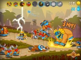 Als je genoeg ''blauwe bubbels'' hebt, kan ja special attacks gebruiken, zoals donderslagen.