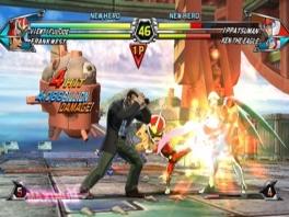 Je vecht in een tag-team: met twee personages probeer je je tegenstanders te verslaan.