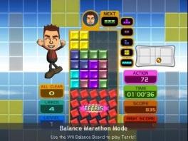 Ook kun je nu met je <a href = https://www.mariowii.nl/wii_spel_info.php?Nintendo=Wii_Balance_Board>balance board</a> spelen, al lijkt het bij je Mii net op enorme schoenen!