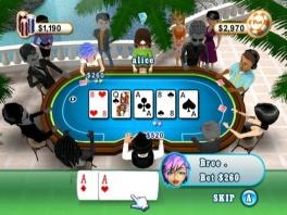 In deze pokervorm krijg je maar twee kaarten. De andere drie kaarten staan op de  tafel.