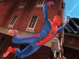 Slinger als <a href = https://www.mariowii.nl/wii_zoeken.php?search=spider-man>Spider-Man</a> van gebouw naar gebouw.