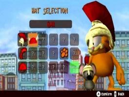 Speel als Garfield en kies een grappig hoofddeksel!