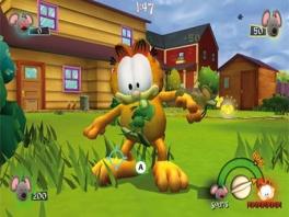 Bha! Kijk al die muizen op Garfield zitten!