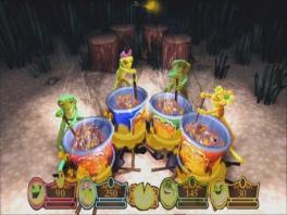 In dit spel kun je met vier mensen tegelijk  de minigames spelen.
