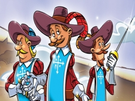 Speel als <a href = https://www.mariowii.nl/wii_spel_info.php?Nintendo=The_Three_Musketeers_One_for_all>de Drie Musketiers</a>!
