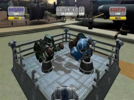 Een van de Mini games: robot boxen.