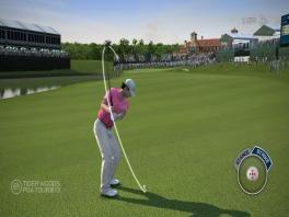 Je speelt niet alleen als Tiger Woods, maar ook als andere golfers.