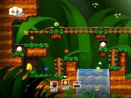 In Toki Tori speel je onder andere door een bos, een kasteel en een riool.
