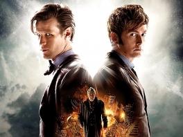 David Tennant en Matt Smith, twee van de elf incarnaties van The Doctor in dit spel.
