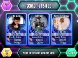 Speel het spel met bekende karakters zoals de cybermen, de daleks en captain Jack.