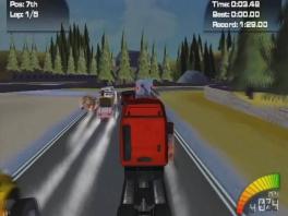 Ook vrachtwagens zijn razend snel in Truck Racer.
