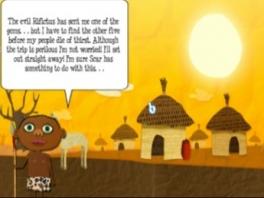In de History Modus (het verhaal) moet je de lokale bevolking helpen.
