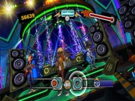 De gitaren en drums kunnen natuurlijk niet ontbreken in deze game.