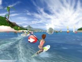 Neem deel aan traditionele strandsporten, zoals waterskiën en wakeboarden...