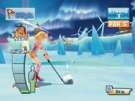 Let op je kracht, je houding en de richting voor de perfect ijs-golfbal!