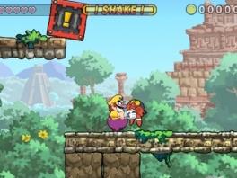 In Wario Land: The Shake Dimension moet je vijanden door elkaar schudden voor muntjes.