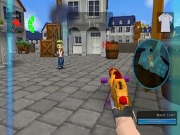 Gelukkig is er ook nog de bazooka onder de waterpistolen: de SuperSoaker!