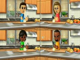 Het spel bestaat uit veel minigames die je samen met je vrienden kunt spelen, zoals groenten snijden!