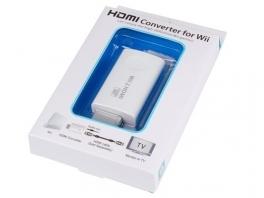 Het Wii to HDMI-blokje in de doos. Snel aansluiten!
