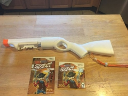 Een <a href = https://www.mariowii.nl/wii_spel_info.php?Nintendo=Wii-afstandsbediening>Wii controller</a> accessoire kan gebruikt worden om te schieten.