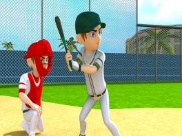 Net als bij <a href = https://www.mariowii.nl/wii_spel_info.php?Nintendo=Wii_Sports>Wii Sports</a> kun je honkballen.