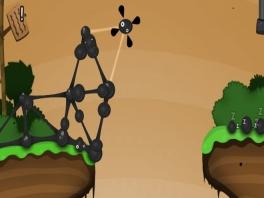 Je zult tijdens dit spel lastige constructies van goo balls tegenkomen.