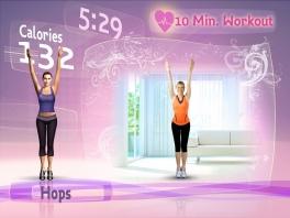 Je virtuele coach helpt je met de oefeningen.