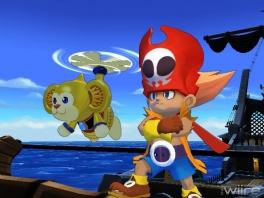 """Onze helden van het spel: Zack de """"goed"""" geklede piraat en zijn trouwe helikopteraap Wiki"""
